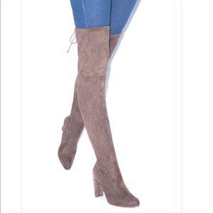 WIDE CALF Solara Tan Over the Knee Boots